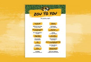 """Graphic with bold text """"Zou to You Playlist"""""""