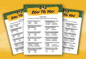 Graphic showing the Zou To You Trivia questions.
